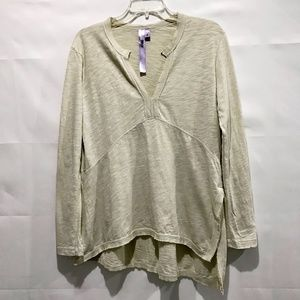 Wilt Sz M Beige Long Sleeves Casual Tunic Top